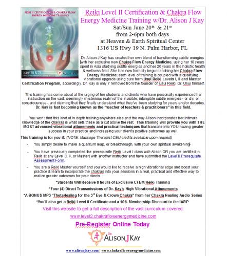Registration Open for Reiki Level 2 Certification June 20th -
